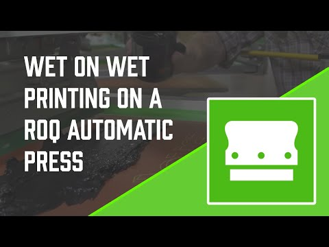 Printing Wet on Wet with a ROQ Automatic Press