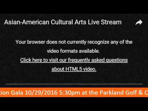 Asian-American Cultural Arts Live Stream