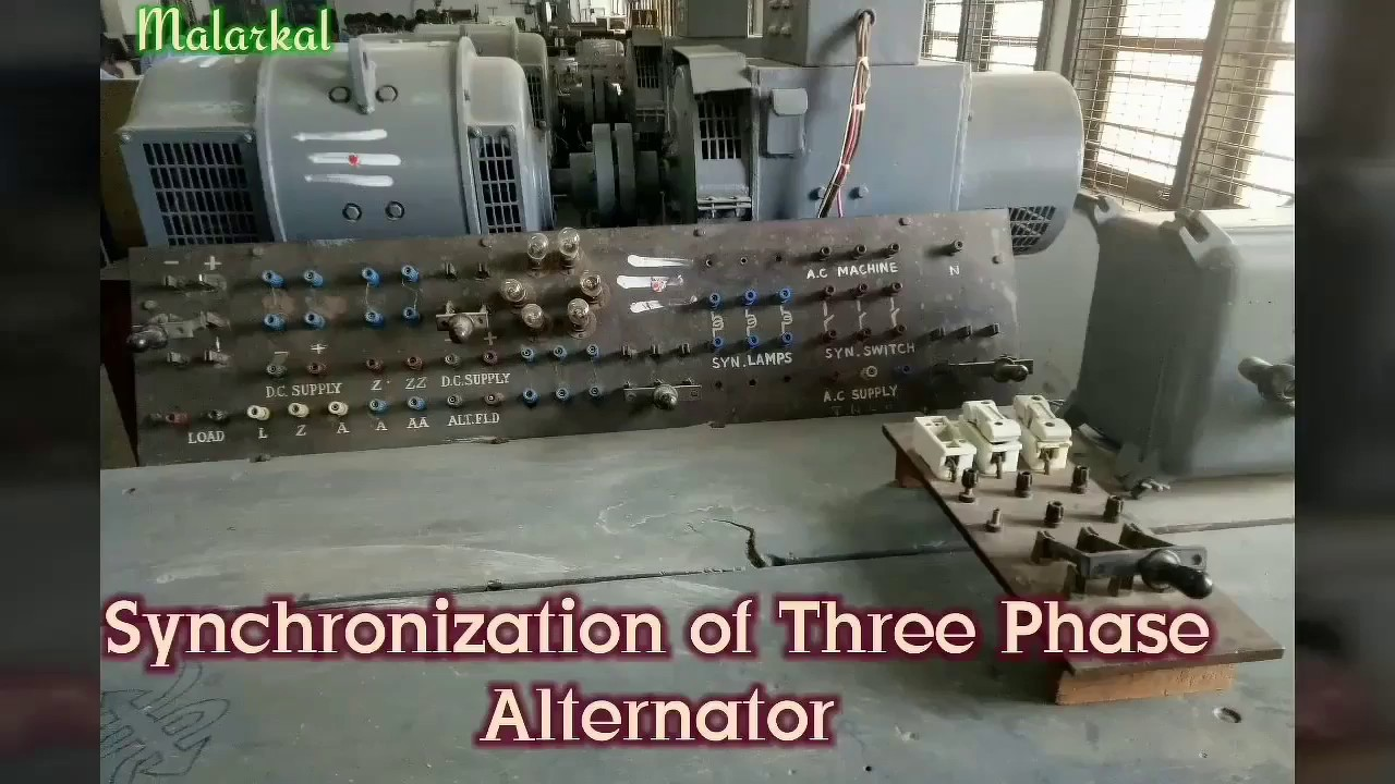Synchronization Of 3phase Alternator And V Curves Construction For Deriving Capability Curve Synchronous Generator Part 1 Class