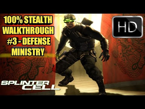 Tom Clancy's Splinter Cell - Full Walkthrough - HARD - Mission 3 - Defense Ministry (HD)