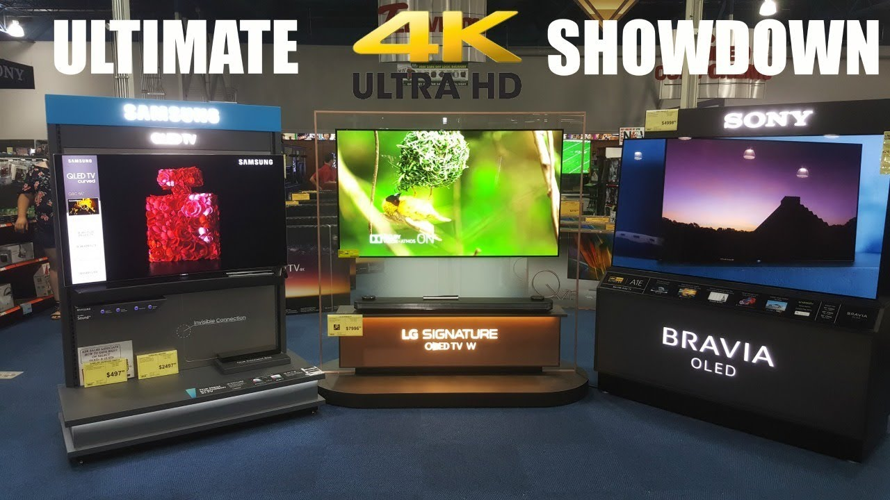 the ultimate 4k tv showdown samsung vs lg vs sony youtube. Black Bedroom Furniture Sets. Home Design Ideas