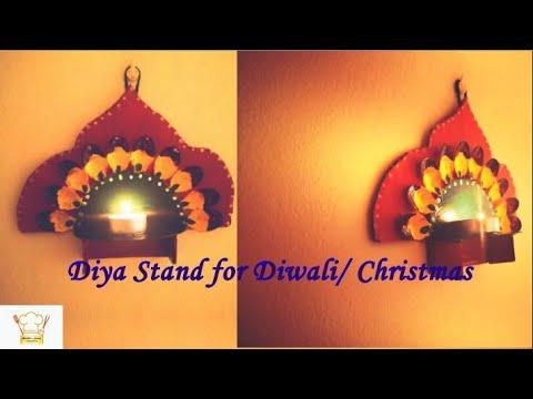 Diya decoration ideas for deepawali/ Homemade Easy Diya decoration