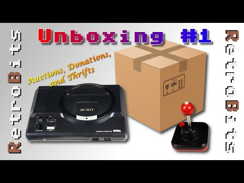 Unboxing #1: Auctions, Donations, Thrifts w/Bonus Commodore 64 Restoration!