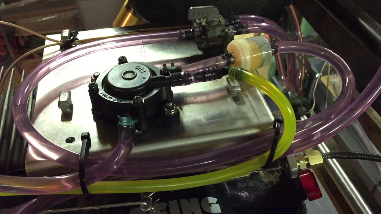 460cc Go Kart fuel delivery setup