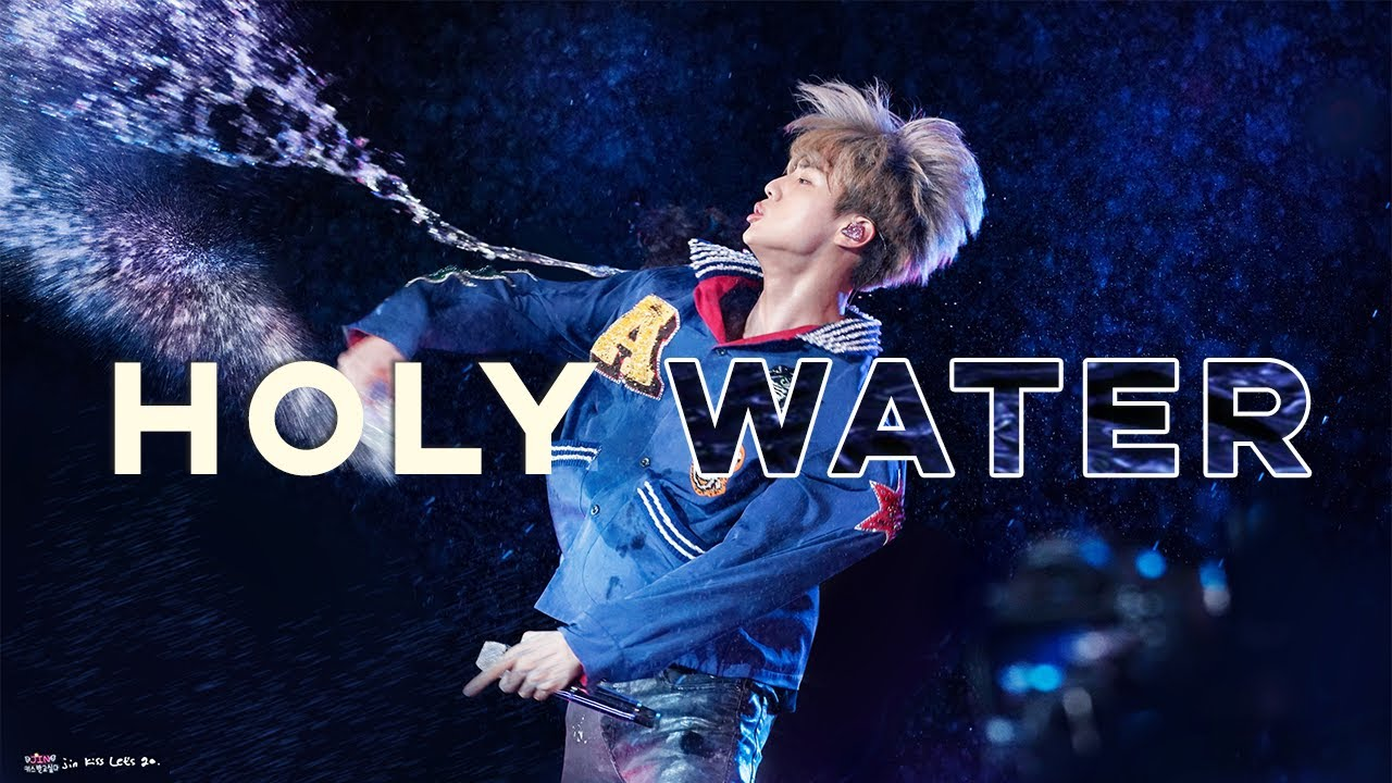 jin's holy water for ARMY (+a bonus yoongi vs BTS concert water fight)