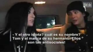 BILL Y TOM KAULITZ HABLAN MAL DE TOKIO HOTEL??? (sub.en español)
