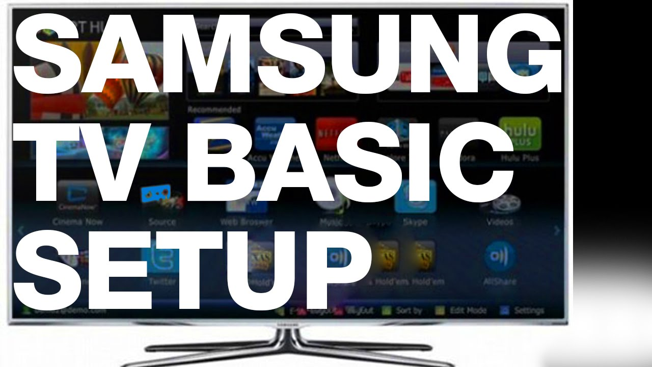 samsung tv basic setup manual guide youtube rh youtube com samsung tv internet setup guide samsung lcd tv monitor quick setup guide