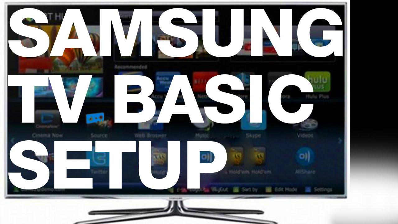 samsung tv basic setup manual guide [ 1280 x 720 Pixel ]