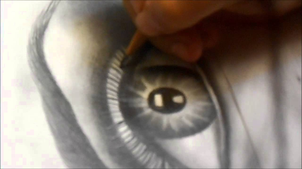 Dibujo de un ojo con claroscuro tonal a lpiz 55  YouTube