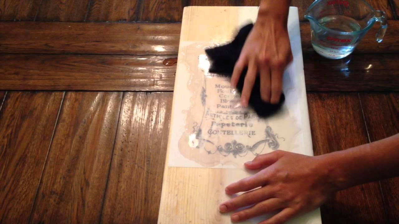 liquitex medium used to transfer an image onto wood youtube. Black Bedroom Furniture Sets. Home Design Ideas