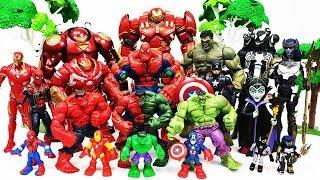 Venom & Villains are attacking Avengers! Go~! Hulk, Iron Man, Spider-Man, Hulkbuster