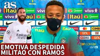 REAL MADRID | La emotiva despedida pública de MILITAO con SERGIO RAMOS | Diario AS