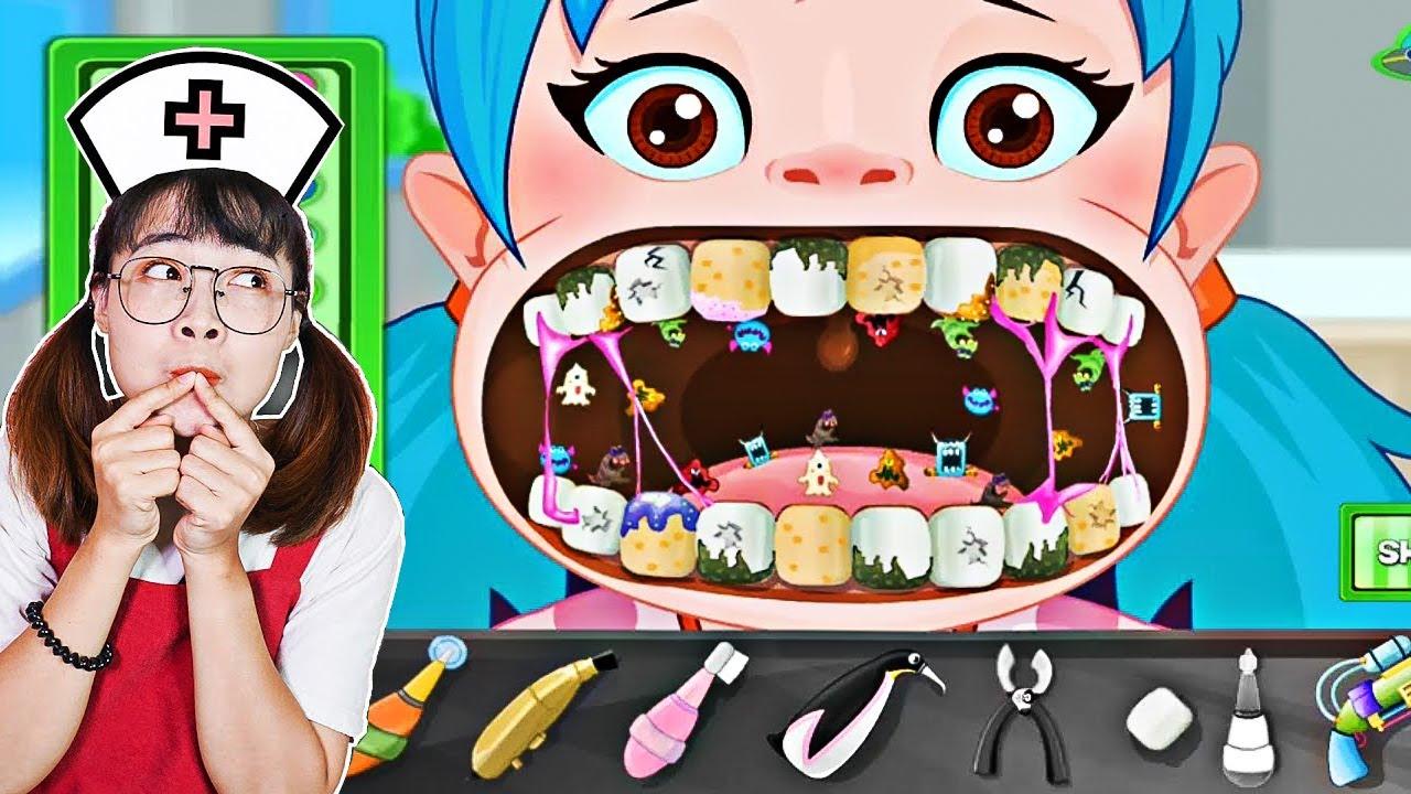 Download Hà Sam Làm Bác Sĩ Khám Răng Cho Các Bạn Nhỏ Khỏi Sâu Răng