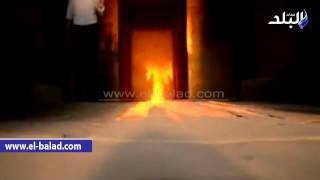 بالفيديو والصور.. لحظة تعامد الشمس على معبد «هيبس» بالوادى الجديد