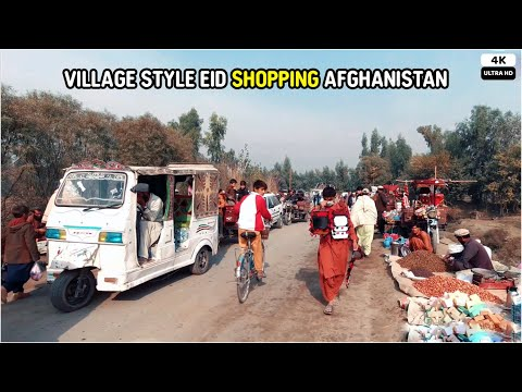 Village Style Eid Shopping Market | Afghanistan | 4K