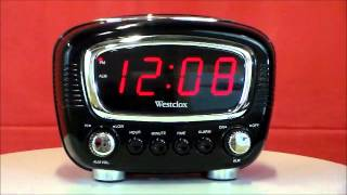 Westclox 70048 Classic Super Loud LED Electric Alarm Clock