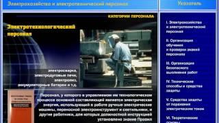 01 Электрохозяйство и электротехнический персонал