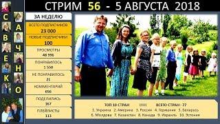 Семья Савченко. Стрим 56 - 2 часть (5 августа 2018) Ответы на вопросы друзей и подписчиков.