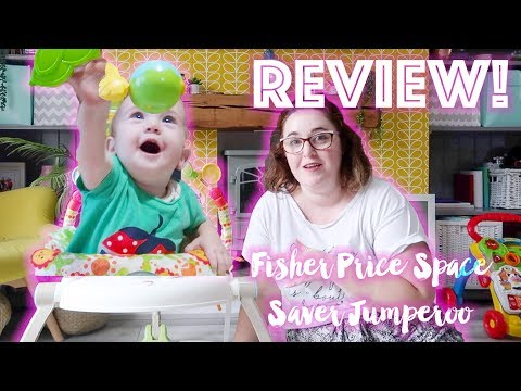 Fisher Price Space Saver Jumperoo - A Review Of The Fisher Price Jumperoo || Must Have Baby Bouncer!
