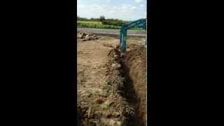 紀の川市新築現場の外部排水工事