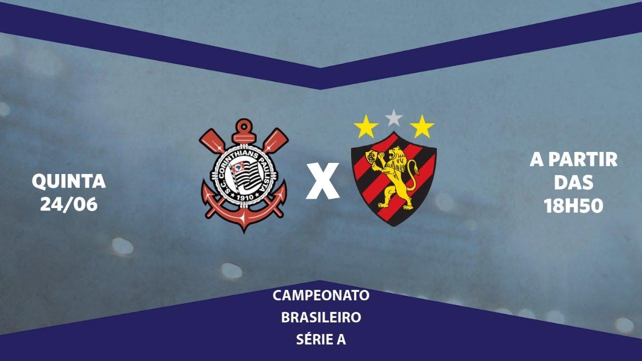 Corinthians x Sport ao vivo, pela Série A do Brasileiro, com o Escrete de Ouro da Rádio Jornal