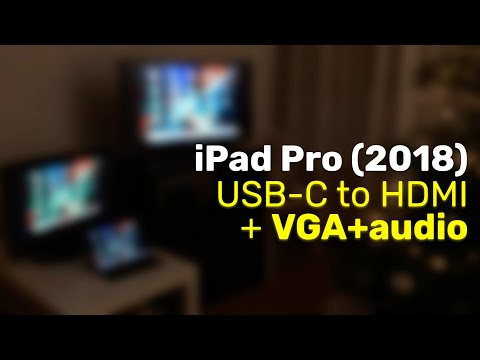 Connect IPad Pro (2018) To VGA+Audio, Or Even HDMI+VGA+Audio, All At Once!