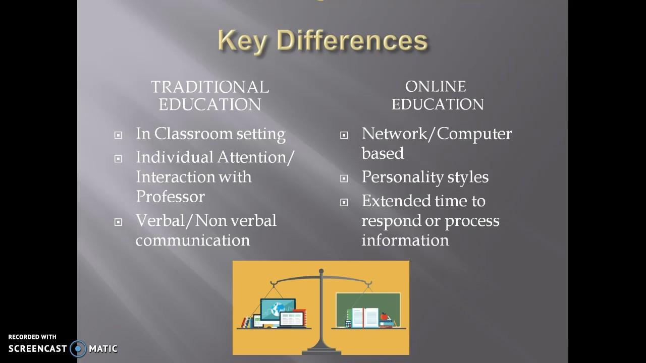 online education vs traditional classroom