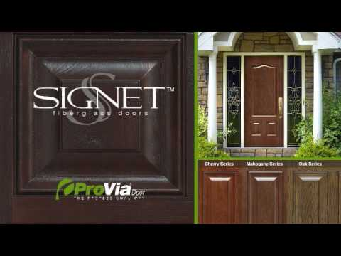 Signet Fiberglass Entry Door by ProVia