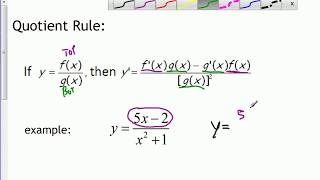 AP Calc - 2.3 - The Product and Quotient Rules