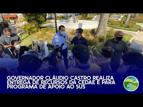 Governador Cláudio Castro realiza entrega de recursos da CEDAE e para Programa de Apoio ao SUS