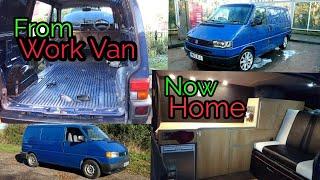 My VW T4 Tour Transporter camper van interior Stealth van Off Grid life (Live in van) Self Built