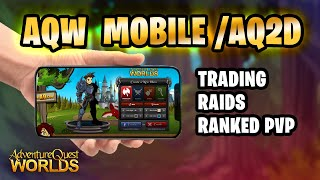 What I hope to see in AQW Mobile/ AQ2D! Raids, Trading, Guild Wars and More! AQW