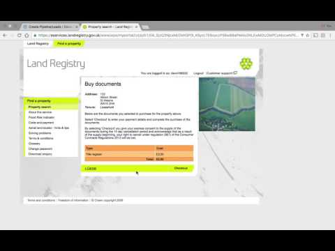 Land registry download title plan and check title