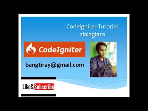 CI Tutorial Bahasa Indonesia Part 3 Setup Core - Session - library - Model Login ajax json encode