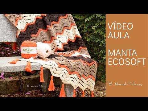 Manta em Crochê - Ecosoft por Marcelo Nunes - Crochet Blanket
