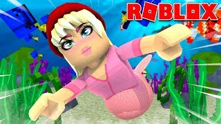 Is a mermaid for 24 hours in Roblox!