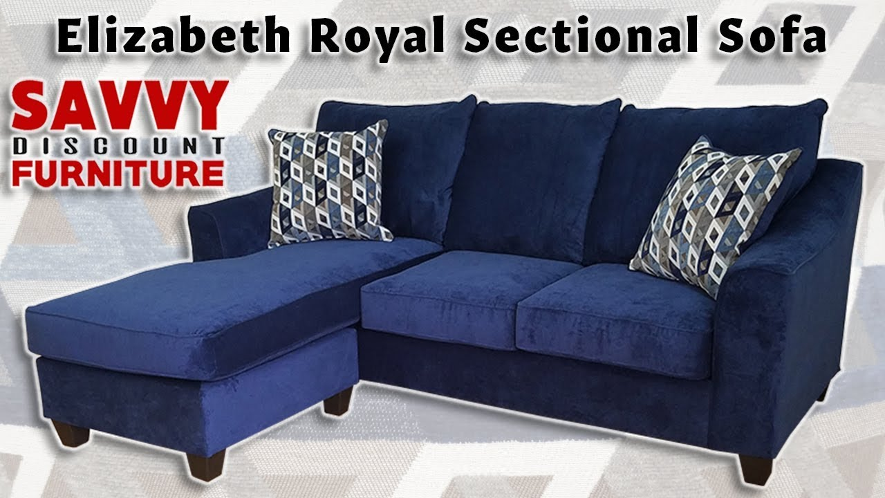 Elizabeth Royal Sectional With Reversible Chaise Youtube