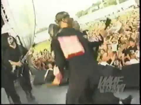 Slipknot Live footage USA Boston MA Suffolk Downs WAAF Big Field Day 22 07 2000