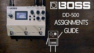 BOSS DD-500 Guide de Contrôle des Affectations