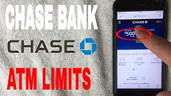 ✅  Chase Bank ATM Limits ?