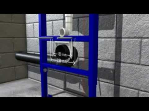 Idealmaison montage toilette suspendu grohe rapid sl youtube - Toilette noir suspendu ...