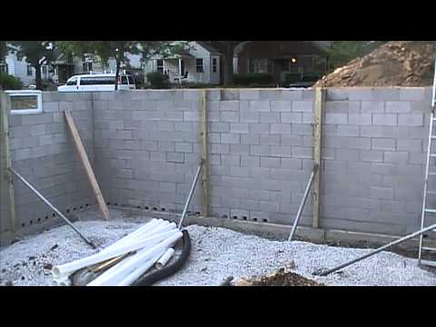 Exterior Basement Waterproofing, How it Looks Before You Backfill