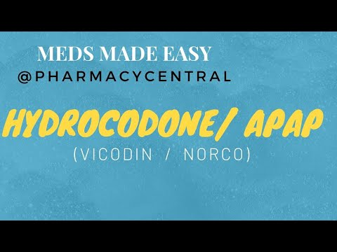 Hydrocodone (Vicodin/Norco) : Meds Made Easy (MME)