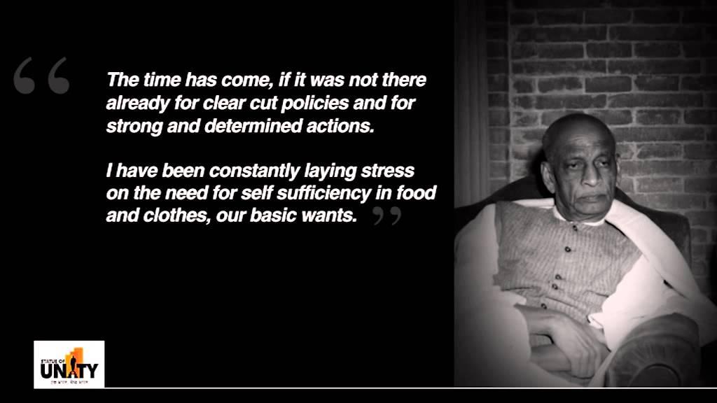 sardar vallabhbhai patel speech in hindi