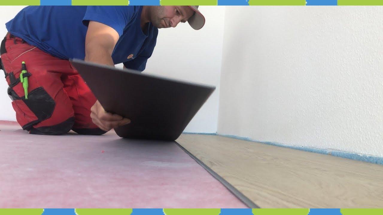vinylboden selber verlegen klick vinyl klicksystem mit