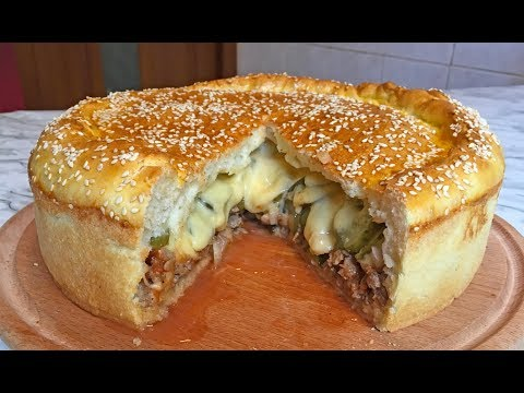 Ленивый Чизбургер (ОЧЕНЬ ВКУСНО) / Cheeseburger / Пирог Чизбургер / Фастфуд / Пирог с Мясом
