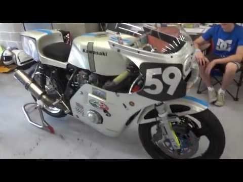 Bikers Classic Spa - event overview with Alf's motorcycles Mike 'Spike' Edwards