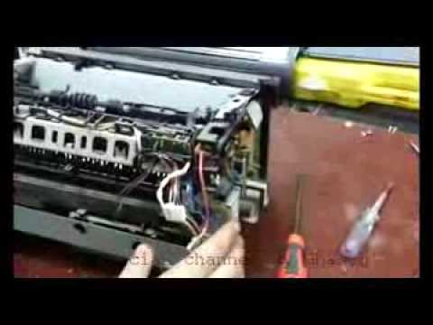 Disassemble Printer Canon LPB2900 and fuser repairiing in new technical method.
