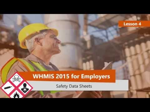 WHMIS 2015 Safety Data Sheets (Part 4)