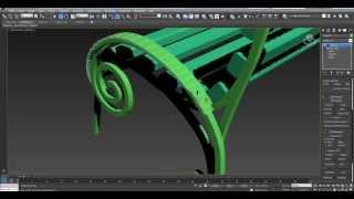 Уроки 3D Max с нуля. Моделирование лавочки/скамейки в 3Ds Max с нуля